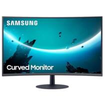 "Samsung ívelt VA LED Monitor 27"" C27T550FDU, 1920x1080, 16:9, 250cd/m2, 4ms, D-Sub/HDMI/Display Port, Hangszóró"
