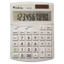 """Számológép, asztali, 10 számjegy, környezetbarát, VICTORIA """"GVA-740"""", fehér"""