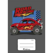 """Füzet, tűzött, A5, vonalas, 32 lap, 1. osztály, VICTORIA, """"Road Racing"""", """"14-32"""""""