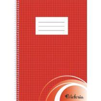Spirálfüzet, A4, kockás, 70 lap, VICTORIA