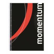 """Spirálfüzet, A4, kockás, 90 lap, perforált, lyukasztott, VICTORIA, """"Momentum"""""""
