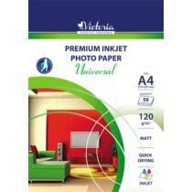 "Fotópapír, tintasugaras, A4, 120 g, matt, VICTORIA ""Universal"""