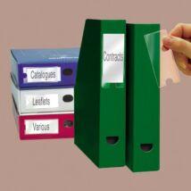 Címketartó zseb, 25x75 mm, öntapadó, 3L