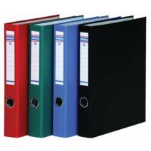 Gyűrűs könyv, 4 gyűrű, D alakú, 45 mm, A4, PP/karton, DONAU, zöld
