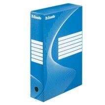 "Archiváló doboz, A4, 80 mm, karton, ESSELTE ""Boxycolor"", kék"