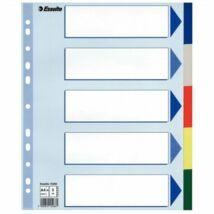 Regiszter, műanyag, A4 Maxi, 5 részes, ESSELTE