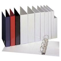 Gyűrűs könyv, panorámás, 4 gyűrű, 25 mm, A4, PP, ESSELTE, fehér