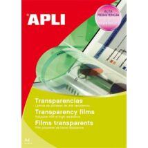 Fólia, írásvetítőhöz, A4, fénymásolóba, adagolóba tölthető, APLI