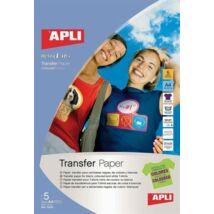 Fólia, vasalható, A4, tintasugaras nyomtatóba, sötét pólóhoz, APLI