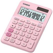 """Számológép, asztali, 12 számjegy, CASIO, """"MS 20 UC"""" rózsaszín"""