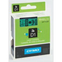 """Feliratozógép szalag, 19 mm x 7 m, DYMO """"D1"""", zöld-fekete"""