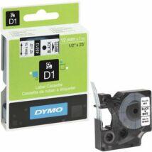 """Feliratozógép szalag, 12 mm x 7 m, DYMO """"D1"""", fehér-fekete"""