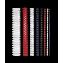 Spirál, műanyag, 14 mm, 81-100 lap, FELLOWES, 25 db, fekete