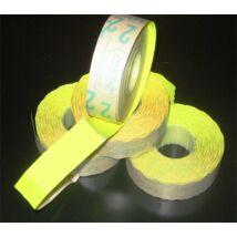 Árazógépszalag, 19x16 mm, METO, citrom