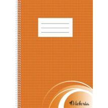 Spirálfüzet, A4, francia kockás, 70 lap, VICTORIA
