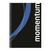 """Spirálfüzet, A4, vonalas, 90 lap, perforált, lyukasztott, VICTORIA, """"Momentum"""""""