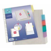 Genotherm, lefűzhető, jelölőfüles, A4, 90 mikron, víztiszta, 6 részes, VIQUEL