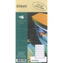 Etikett, mátrixnyomtatóhoz, 1 pályás, 120x48 mm, ÁLLAMI NYOMDA, 3000 etikett/csomag