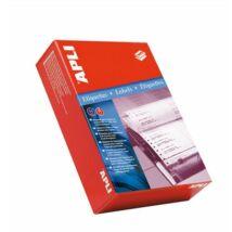 Etikett, mátrixnyomtatókhoz, 1 pályás, 73,7x36 mm, APLI, 4000 etikett/csomag