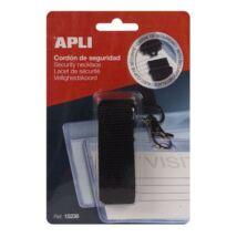 Nyakbaakasztó névkitűzőhöz és azonosítókártya tartóhoz, APLI, fekete