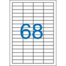 Etikett, univerzális, 48,5x16,9 mm, VICTORIA, 6800 etikett/csomag