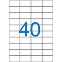 Etikett, univerzális, 52,5x29,7 mm, VICTORIA, 4000 etikett/csomag