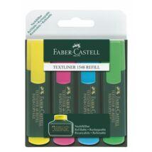 """Szövegkiemelő, 1-5 mm, FABER-CASTELL, """"Textliner 48"""", 4 különböző szín"""