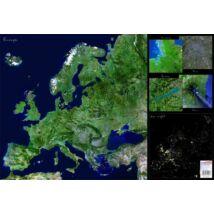 """Könyökalátét, kétoldalas, STIEFEL  """"Európa űrtérkép"""""""