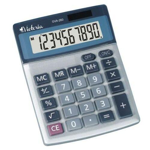 """Számológép, asztali, 10 számjegy, VICTORIA """"GVA-260"""""""