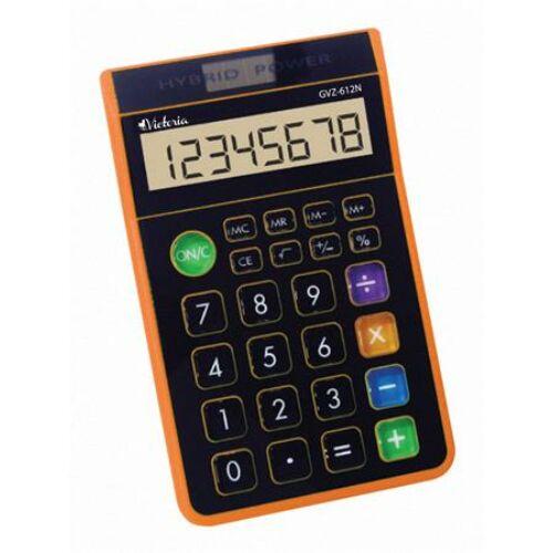 """Számológép, asztali, 8 számjegy, környezetbarát, VICTORIA """"GVA-612N"""", narancs"""