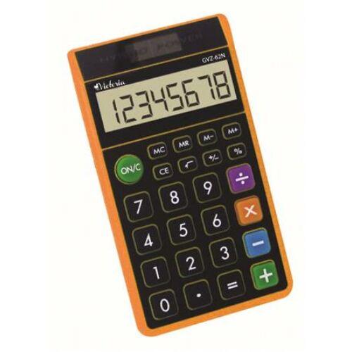 """Zsebszámológép, 8 számjegy, környezetbarát, VICTORIA """"GVZ-62N"""", narancs"""