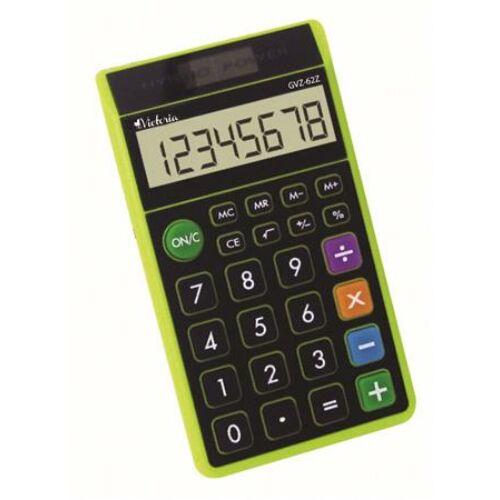 """Zsebszámológép, 8 számjegy, környezetbarát, VICTORIA """"GVZ-62Z"""", zöld"""
