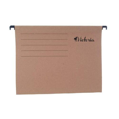 Függőmappa, karton, A4, VICTORIA, natúr