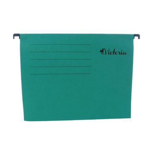 Függőmappa, karton, A4, VICTORIA, zöld
