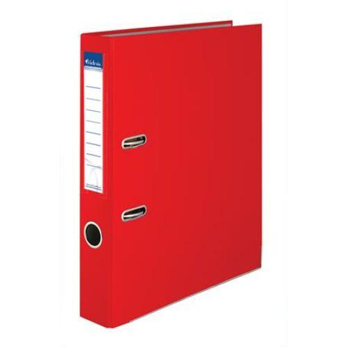 """Iratrendező, 50 mm, A4, PP/karton, élvédő sínnel, VICTORIA, """"Basic"""", piros"""