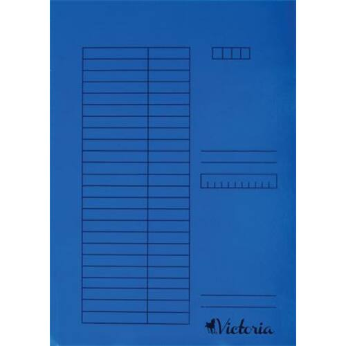 Gyorsfűző, karton, A4, VICTORIA, kék