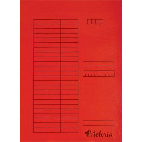 Gyorsfűző, karton, A4, VICTORIA, piros