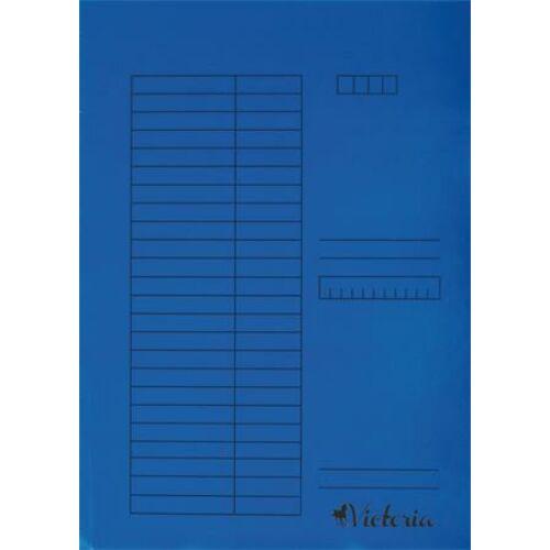 Pólyás dosszié, karton, A4, VICTORIA, kék