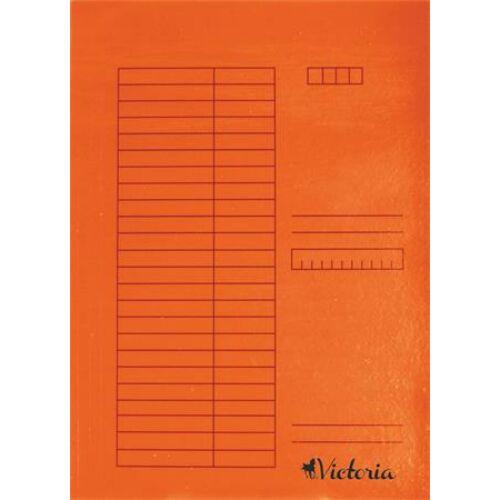 Pólyás dosszié, karton, A4, VICTORIA, narancs