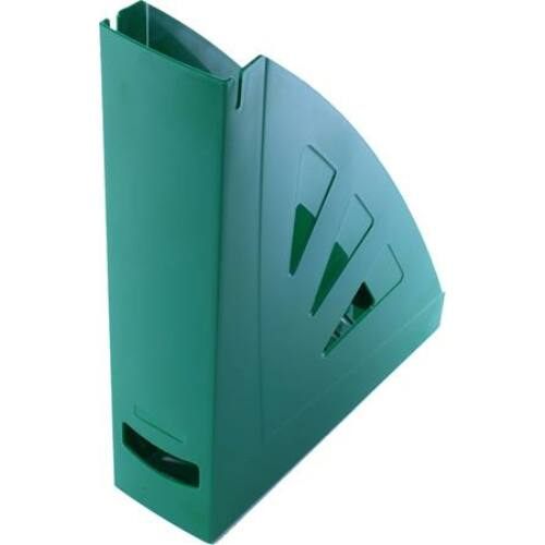 Iratpapucs, műanyag, 75 mm, VICTORIA, zöld