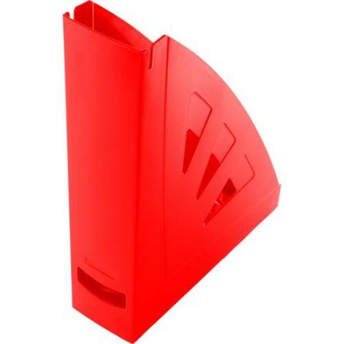 Iratpapucs, műanyag, 75 mm, VICTORIA, piros