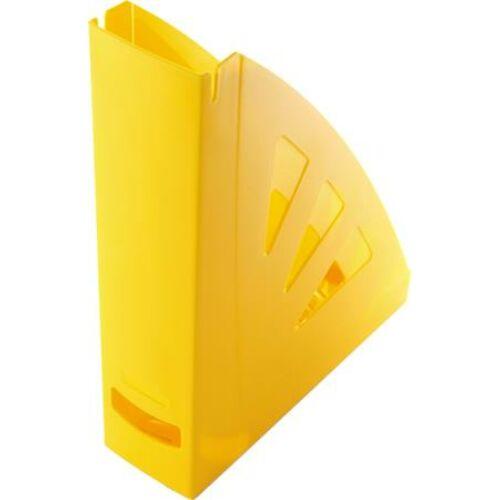 Iratpapucs, műanyag, 75 mm, VICTORIA, sárga