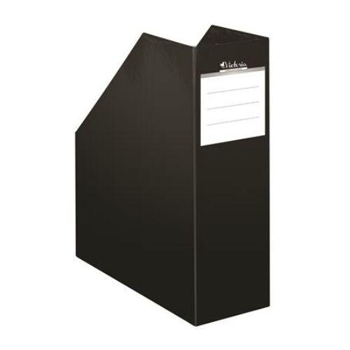 """Iratpapucs, karton, 90 mm, VICTORIA, """"Premium"""", fekete"""