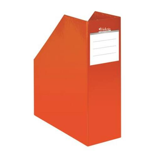 """Iratpapucs, karton, 90 mm, VICTORIA, """"Premium"""", narancs"""