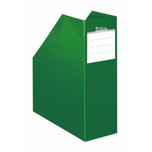 "Iratpapucs, karton, 90 mm, VICTORIA, ""Premium"", zöld"