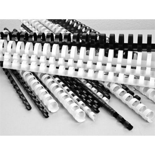 Spirál, műanyag, 6 mm, 10-20 lap, VICTORIA, fehér