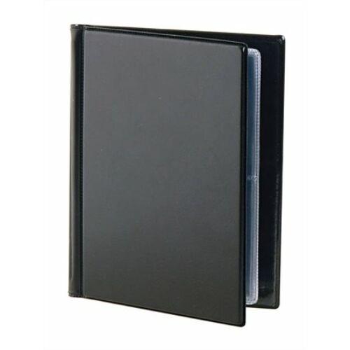 Névjegytartó, 32 db-os, VICTORIA, fekete