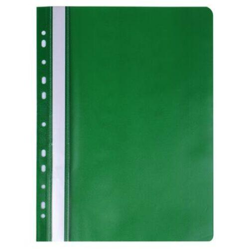 Gyorsfűző, lefűzhető, PP, A4, VICTORIA, zöld