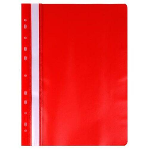 Gyorsfűző, lefűzhető, PP, A4, VICTORIA, piros