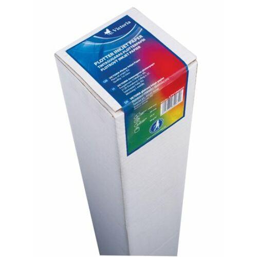 Plotterpapír, tintasugaras, 610 mm x 50 m x 50 mm, 90g, VICTORIA